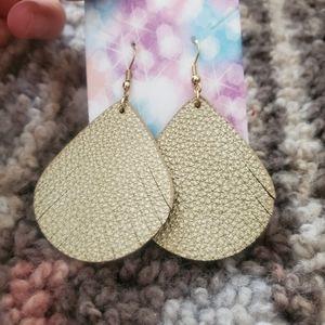 Leather earrings *must bundle*